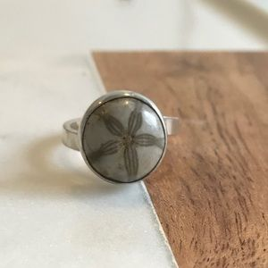 Fossil stone ring